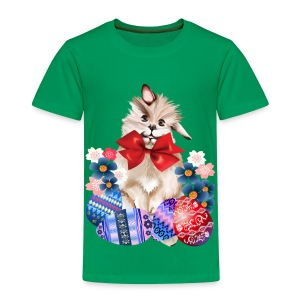 EASTER BUNNY-EGGS n' FLOWERS - Toddler Premium T-Shirt
