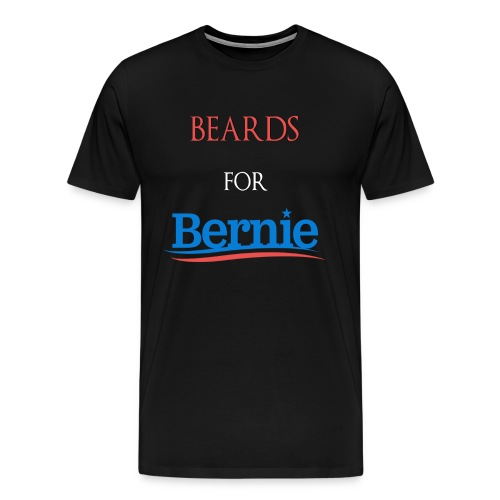 Beards For Bernie Vote 2016 Front/Back T-Shirt - Men's Premium T-Shirt