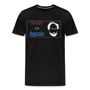 Beards For Bernie Framed T-Shirt - Men's Premium T-Shirt