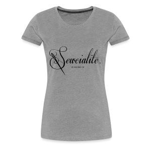 Sewcialite Blackprint Fitted Tee - Women's Premium T-Shirt