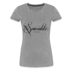 Sewcialite Blackprint Fitted Tee - Women's Premium T-Shirt
