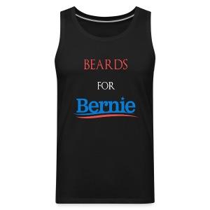Beards For Bernie Vote 2016 Front/Back Muscle Shirt - Men's Premium Tank