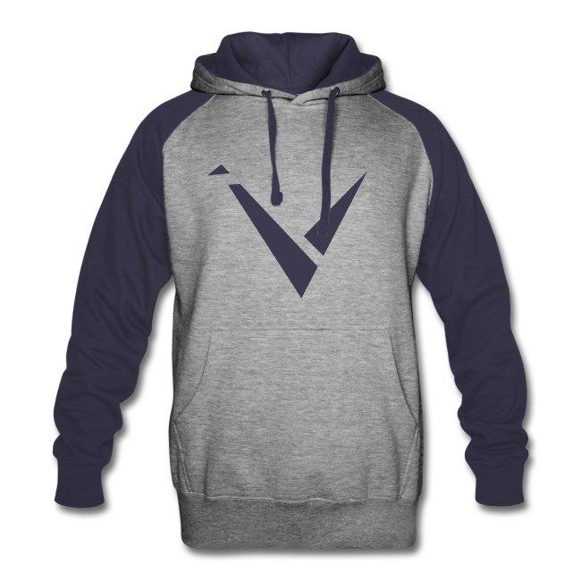 Vexento Colorblock Hoodie (Unisex) [Navy]