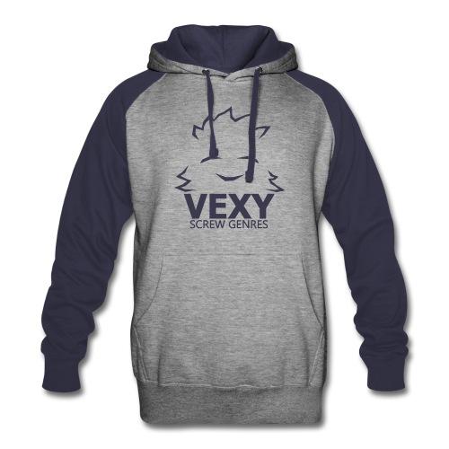Vexy Colorblock Hoodie (Unisex) [Navy] - Colorblock Hoodie