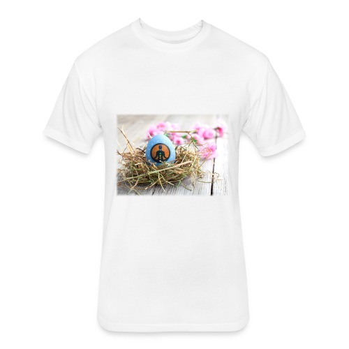 Easter egg chakras - Fitted Cotton/Poly T-Shirt by Next Level