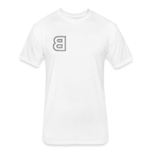 Logo Tee White - Fitted Cotton/Poly T-Shirt by Next Level