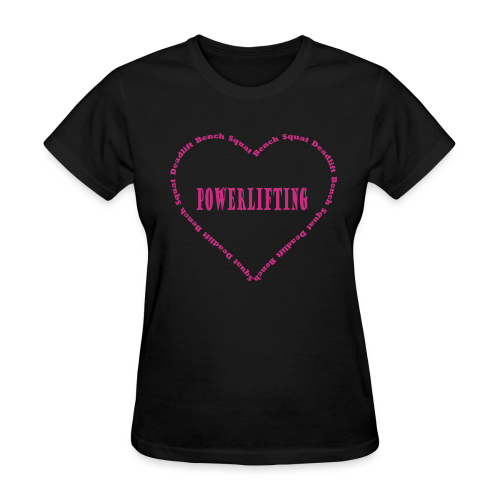 Love powerlifting women's t-shirt - Women's T-Shirt