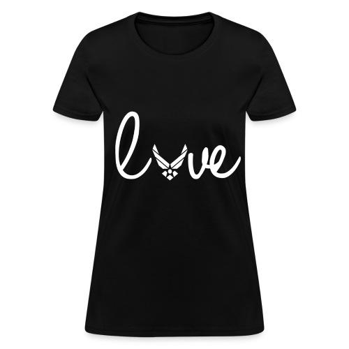 Women T-Shirt Airforce Love Logo White - Women's T-Shirt