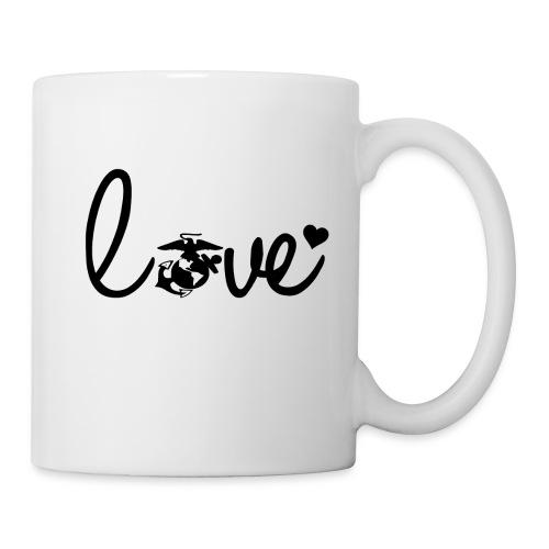 Coffee Mug Marines Love Logo Black - Coffee/Tea Mug