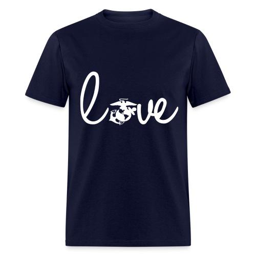 Men T-Shirt Marine Love Logo White - Men's T-Shirt