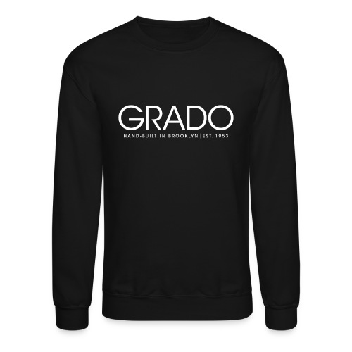 Grado Crewneck - White Text - Crewneck Sweatshirt