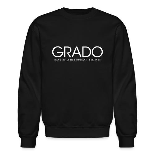 Grado Crewneck - White Text - Crewneck Sweatshirt