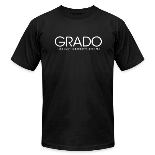 Hand-Built Grado T-Shirt - White Text - Men's  Jersey T-Shirt
