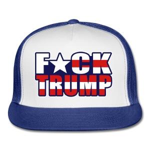 F*ck Trump American Flag Male hat - Trucker Cap