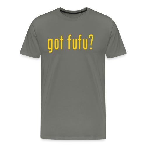 Mens-PrmTee-Gray-Gold - Men's Premium T-Shirt