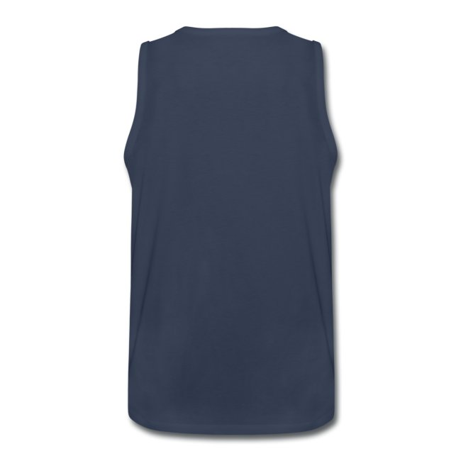 Mens-Sleeveless-Navy-White