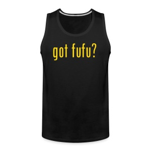 Mens-Sleeveless-Black-Gold - Men's Premium Tank