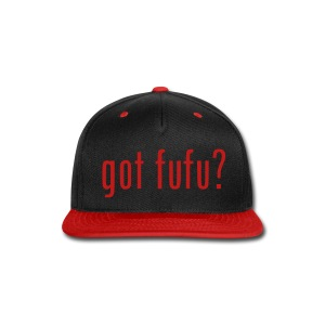 Accessories-- Snapback - Black-Red Glitz - Snap-back Baseball Cap