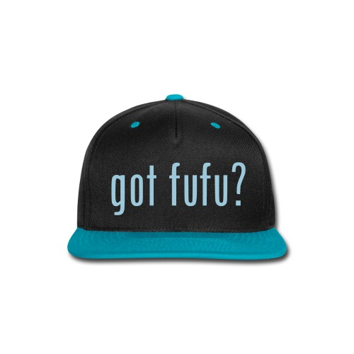 Accessories-- Snapback - Black-Light Blue - Snap-back Baseball Cap