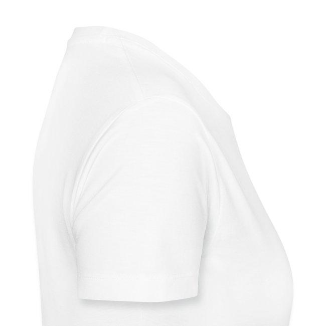 Ladies-Premium Tee-White-Black Velvet
