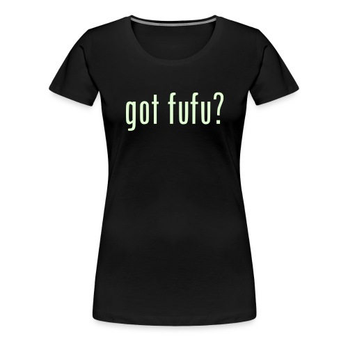 Ladies-Premium Tee - Black-GlowInDark - Women's Premium T-Shirt
