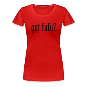 Ladies-Premium Tee-Red-Black  - Women's Premium T-Shirt