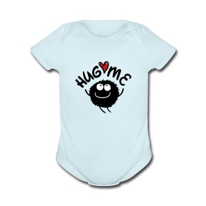 hug me cute Baby Short Sleeve One Piece - Short Sleeve Baby Bodysuit