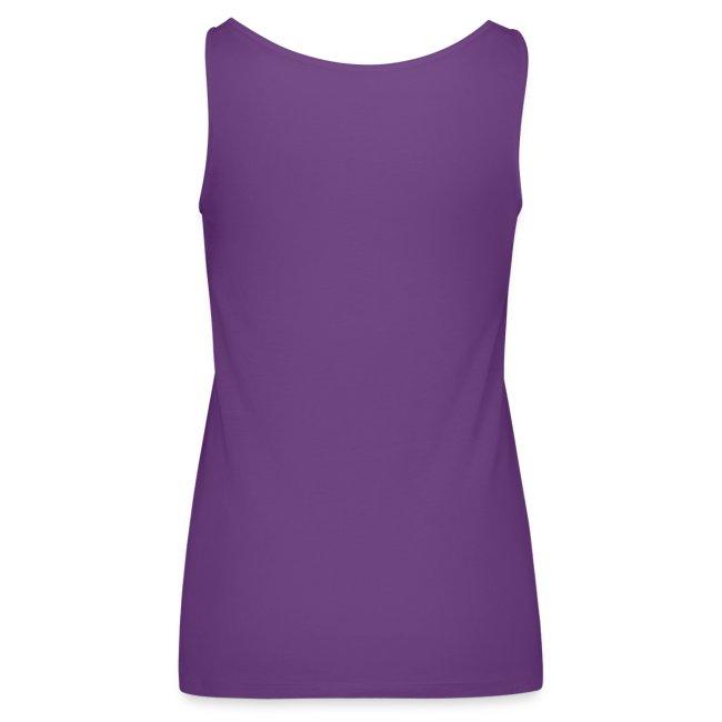 Ladies-Tank-Hot Purple-White