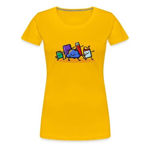 Boy Bandwidth - Women's Premium T-Shirt