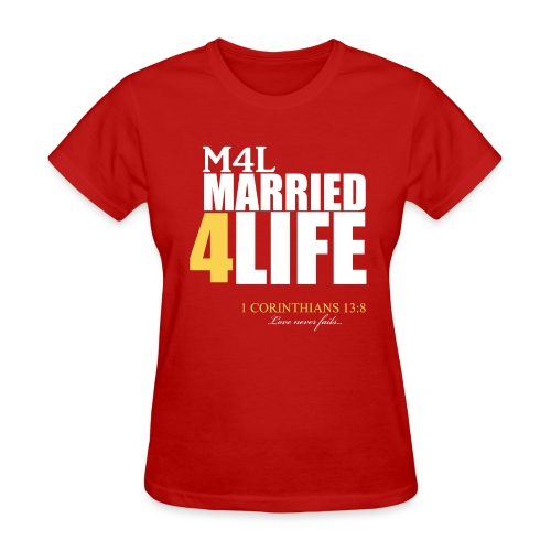 M4L: Married 4 Life (The Wife) - Women's T-Shirt