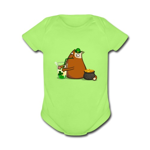 Patrickat — Friday Cat №47 - Organic Short Sleeve Baby Bodysuit