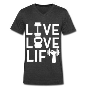 LLL Unisex Vneck - Men's V-Neck T-Shirt by Canvas