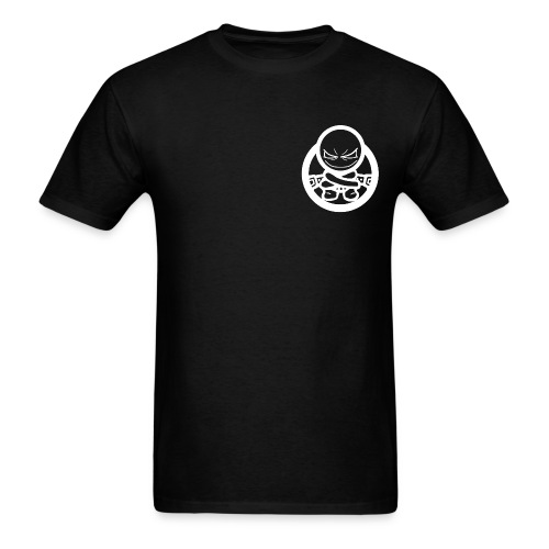 Social Dementia Basic Men's T (Front and Back, Blk) - Men's T-Shirt