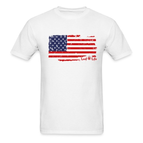 US Flag Leaf Life  - Men's T-Shirt