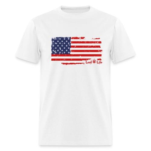 US Flag Leaf Life  - Men's T-Shirt