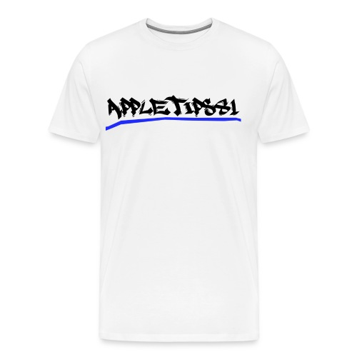 Appletips81 Black Text - Men's Premium T-Shirt