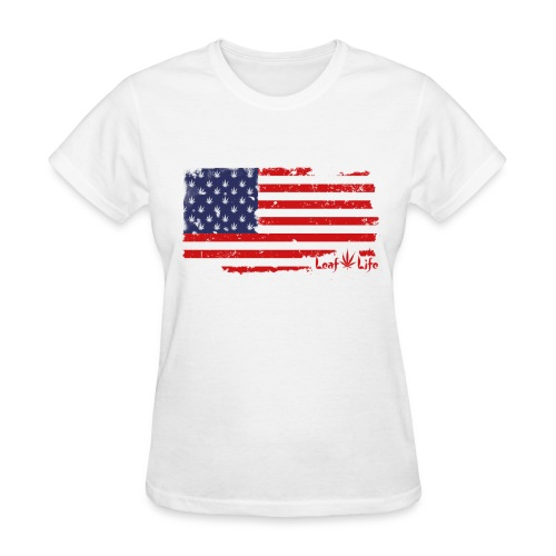 US Flag Leaf Life - Women's T-Shirt