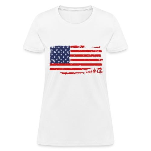 US Flag Leaf Life - Women's T-Shirt