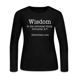 ★ Wisdom  ★ - Women's Long Sleeve Jersey T-Shirt