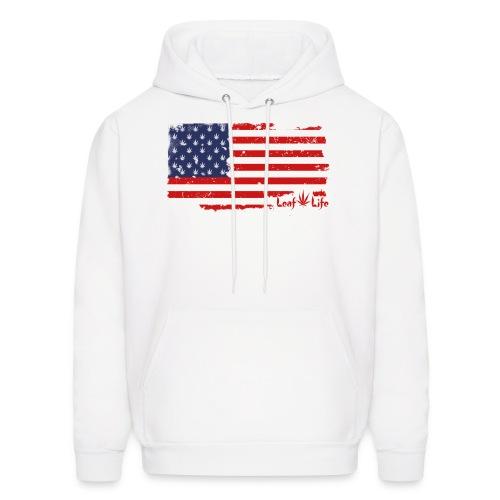 US Flag Leaf Life - Men's Hoodie