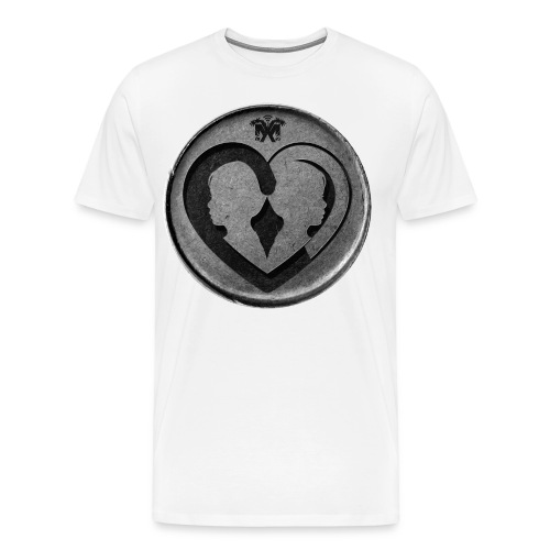 Blue Vigilance Coin Men's T-Shirt - Men's Premium T-Shirt