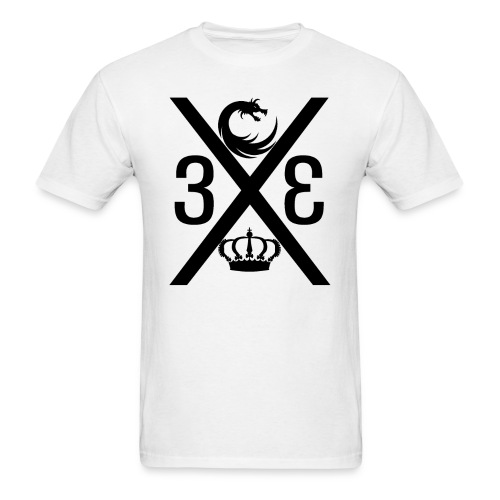Project Enfantry Cross Black/White T-Shirt - Men's T-Shirt