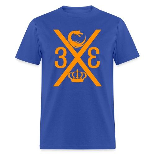 Project Enfantry Cross Blue/Orange T-Shirt - Men's T-Shirt