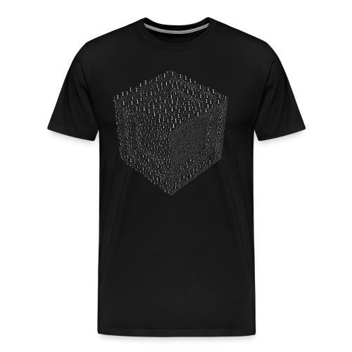 Binary Cube T-shirt - Men's Premium T-Shirt