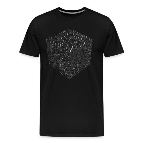 Binary Cube T-shirt - Men's Premium T-Shirt