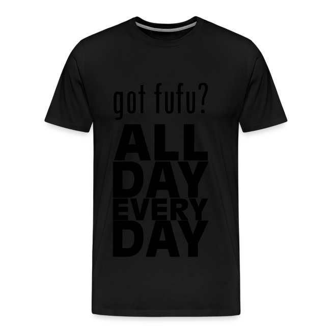 Men - PremiumTee-gotfufu AllDayEveryDay-Red-Black Velvet