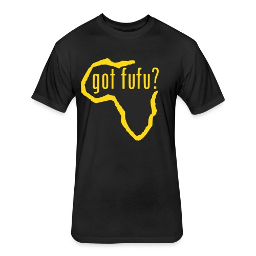 Mens - NextLevel Tee - Black - Africa - gotfufu - Gold Velvet - Fitted Cotton/Poly T-Shirt by Next Level