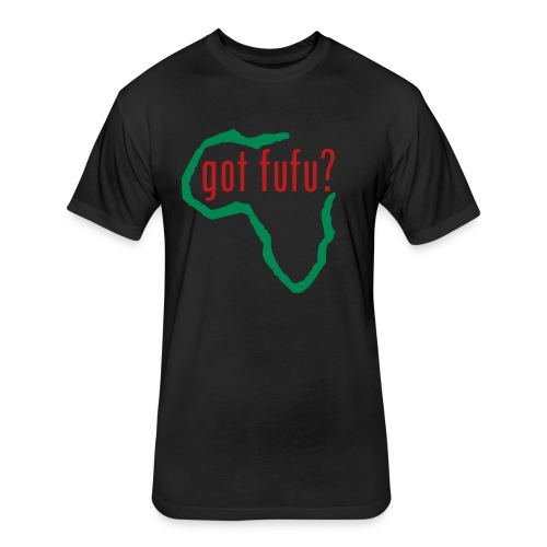 Mens - NextLevelTee - Black - Africa - Green - gotfufu Red Glitz  - Fitted Cotton/Poly T-Shirt by Next Level