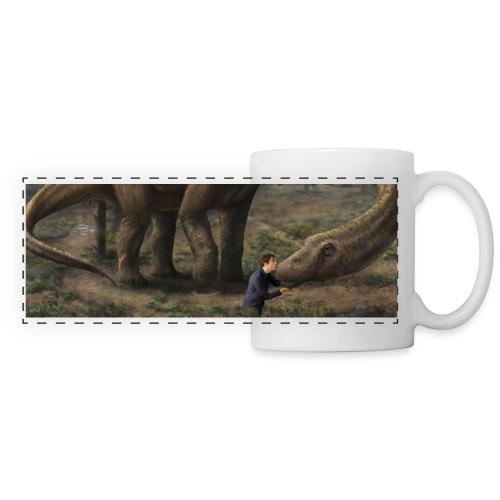 Björn älskar dinosaurier - Panoramic Mug