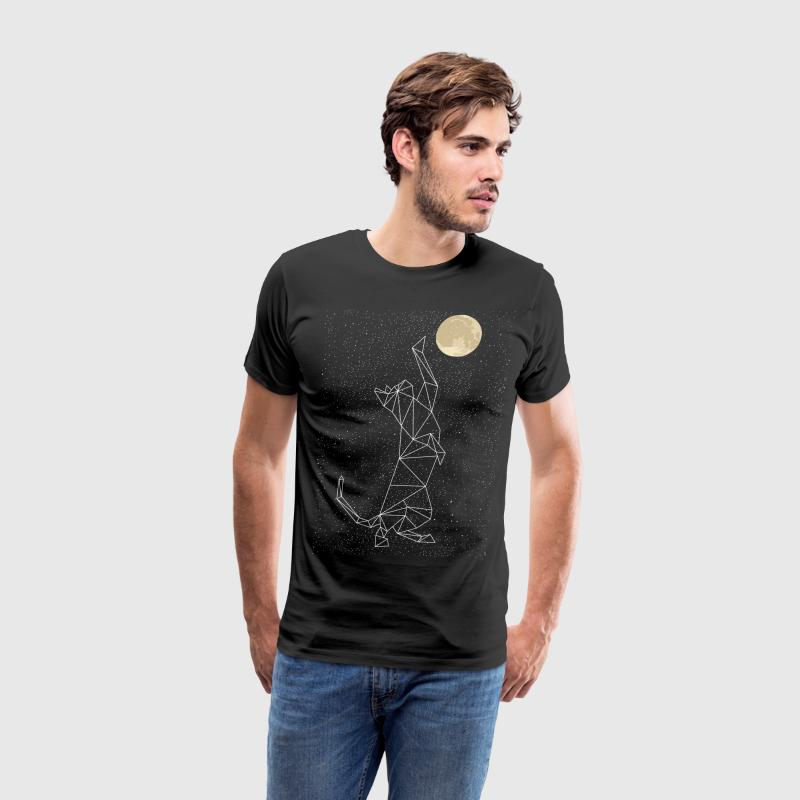 Cat Constellation Reaching For Moon T-Shirts - Men's Premium T-Shirt
